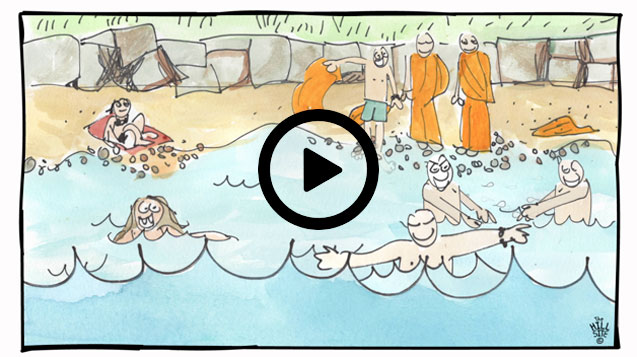 witih-play-button-monks