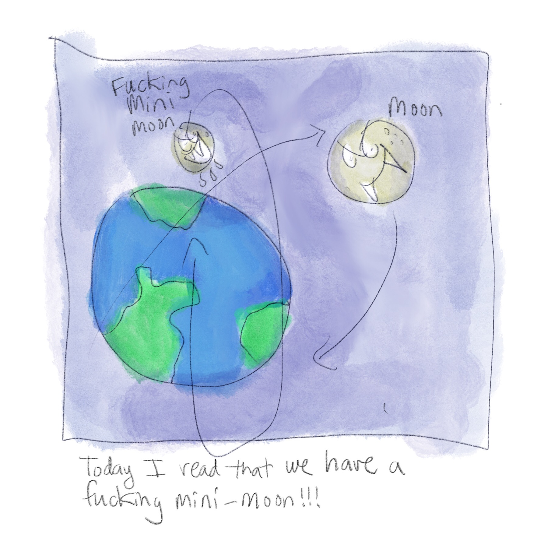 We have a mini moon orbiting earth!