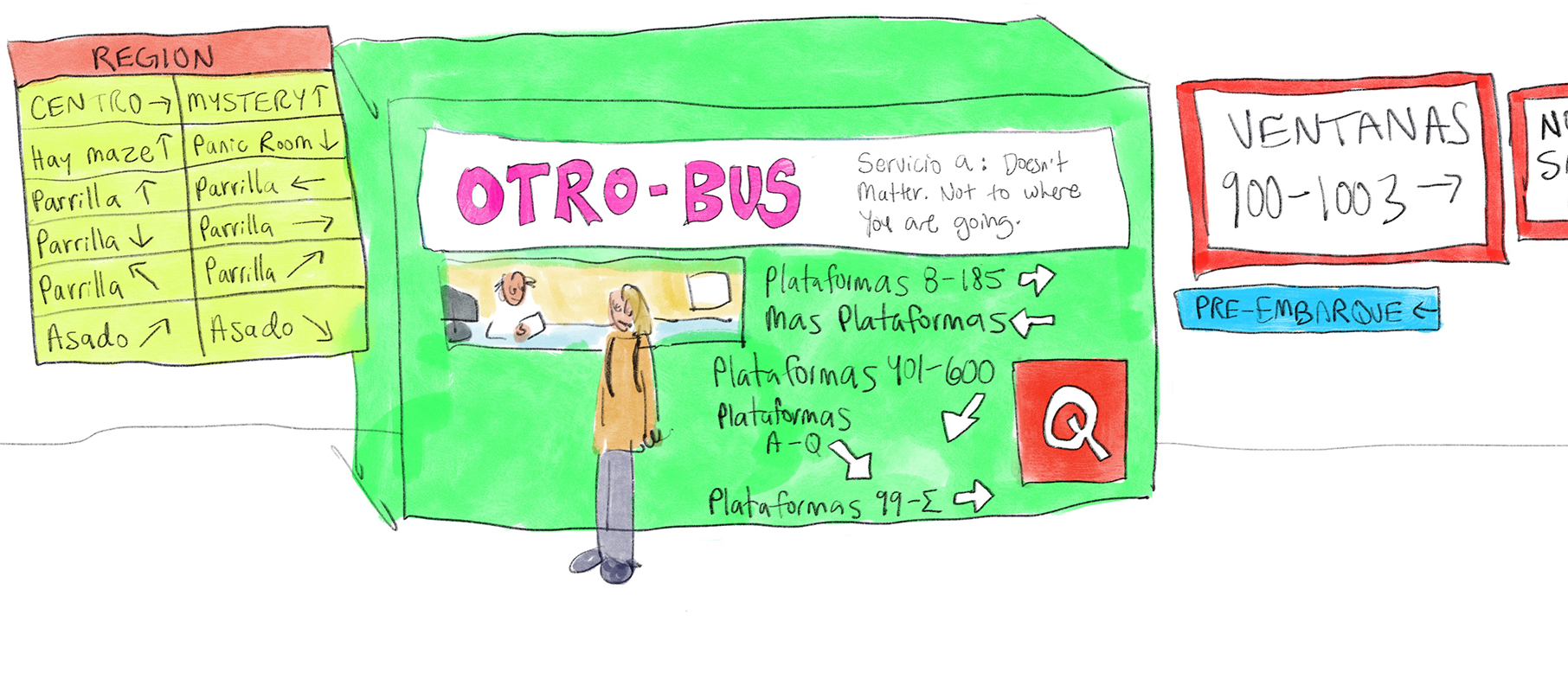Animation about Retiro Bus Station